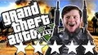 GTA 5 PC Online Funny Moments   THE 5 STAR CHALLENGE!
