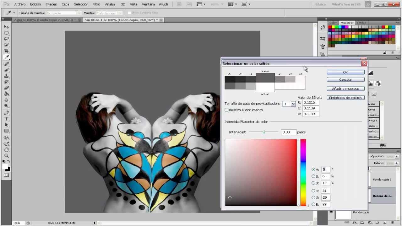 Efecto imagen inversa adobe photoshop cs5 youtube for Invertir imagen espejo