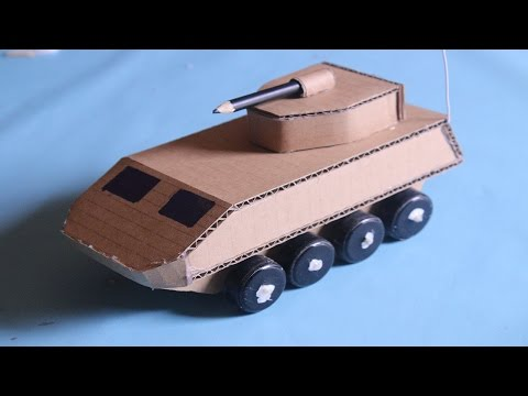 How to make Military Tank Destroyer   RC electric army tank