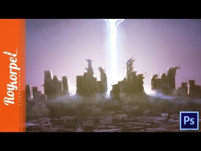 Alien attack - 2h photoshop speedart - time-lapse