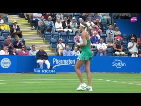 2017 Aegon Classic Second Round | Kristina Mladenovic vs Zhang Shuai | WTA Highlights