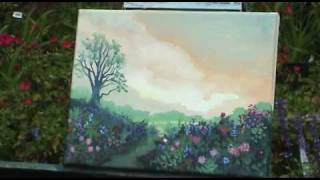 Painting My Wife's Garden - Outdoor Acrylic - Gary Garrett Painting Demo