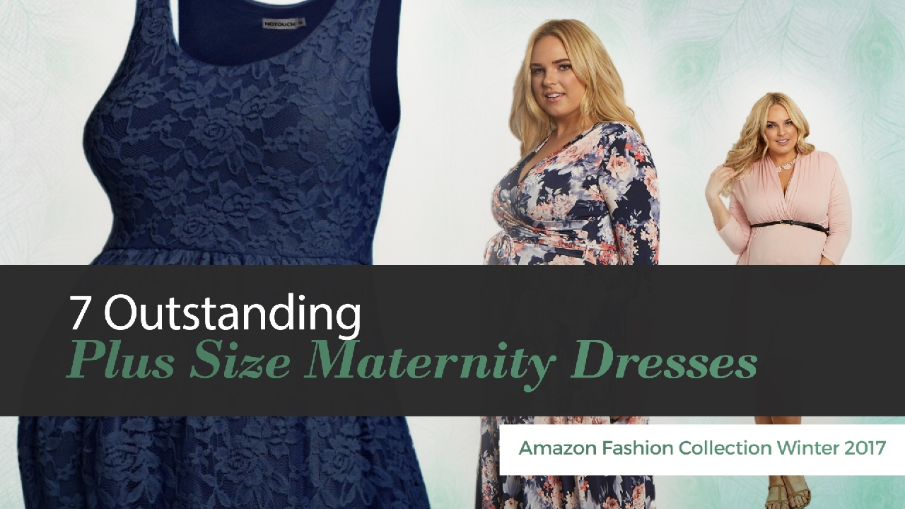 7 Outstanding Plus Size Maternity Dresses Amazon Fashion Collection