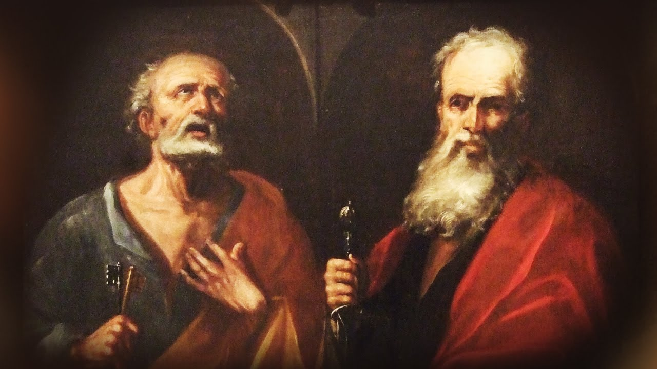 Oración A Los Santos Apóstoles Pedro Y Pablo Youtube