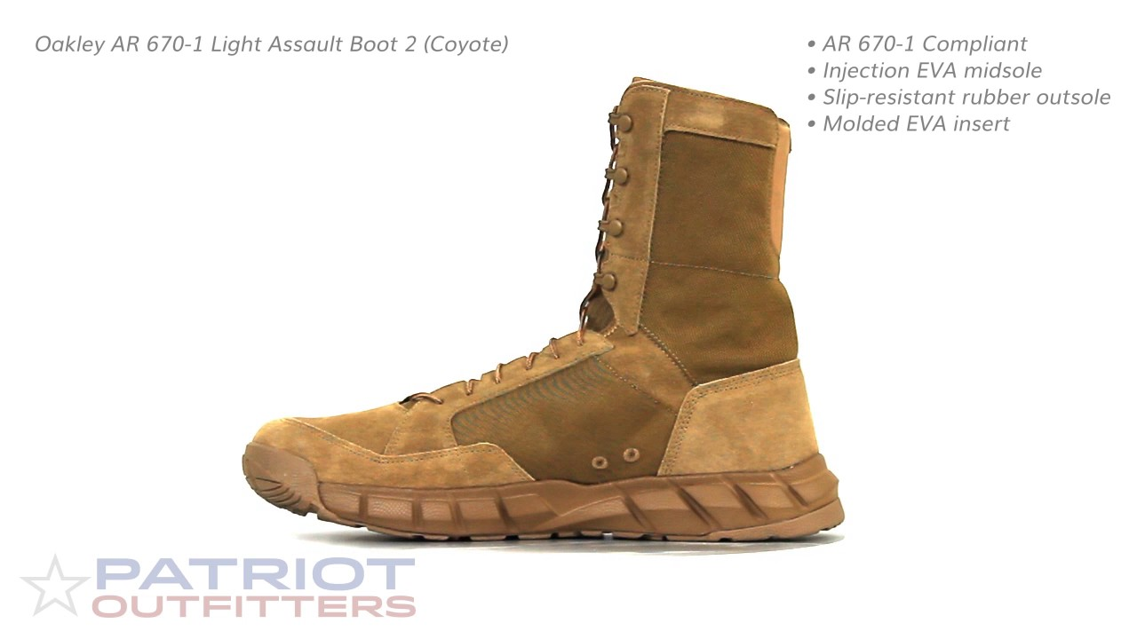 Oakley Ar 670 1 Light Assault Boot 2 Coyote Youtube