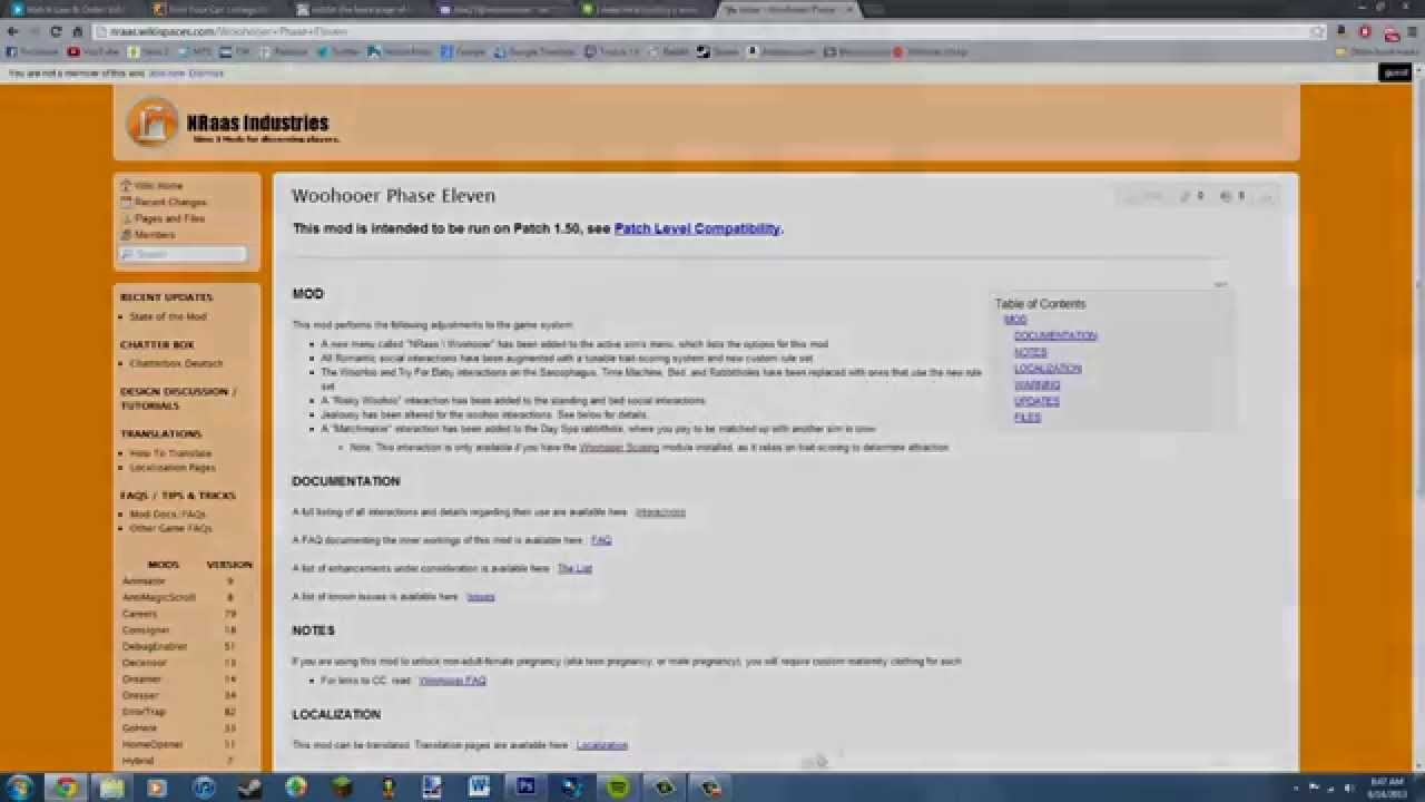 How to install NRAAS Woohooer mod (Sims 3)