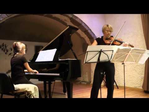 "Edua Zadory & Anastasiia Dombrovska ""Ungarische Rhapsodie Nο 2"" live at Megaro Gyzi Festival 2012"