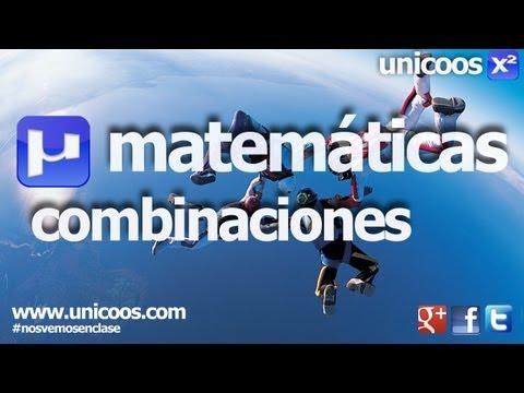 Combinatoria 01 - Combinaciones sin repeticion 4ºESO  unicoos matematicas