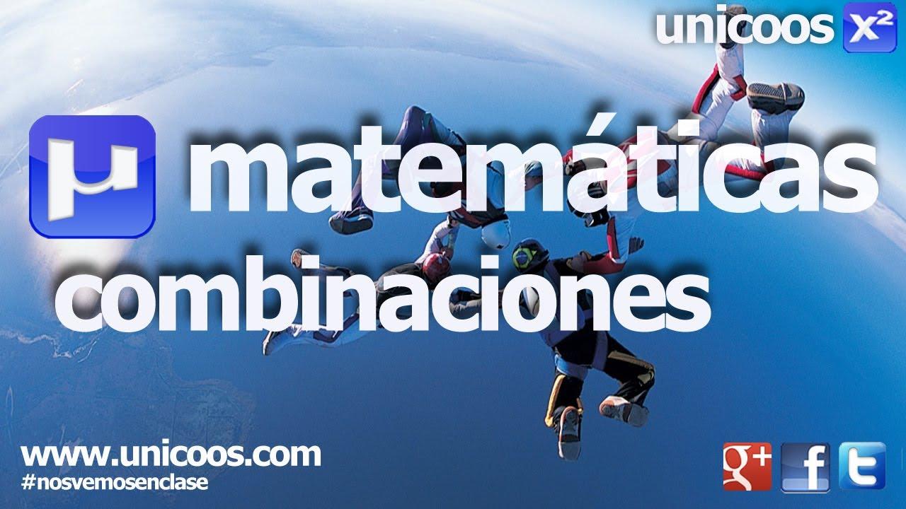 Combinatoria 01 - Combinaciones sin repeticion 4ºESO unicoos ...