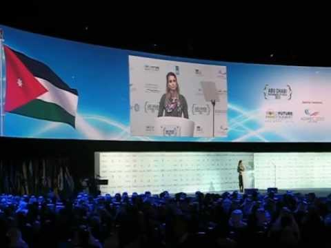Queen of Jordan Sustainable Energy for All Speech at Abu Dhabi Sustainability Week