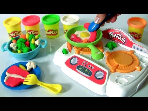 Play Doh Sizzlin Stovetop Diy Make Burgers Bacon Eggs With Play Doh