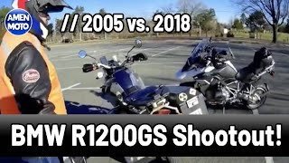 2005 vs. 2018 - BMW R1200GS Shootout! {{ With Wes Fleming! }}