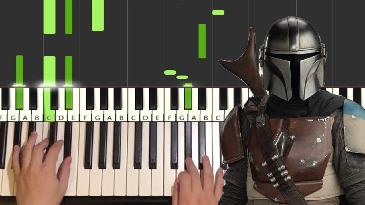 The Mandalorian Theme Piano Tutorial Lesson Youtube