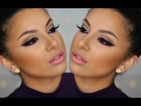 Smokey Pop Of Purple Tutorial | Makeup By Leyla