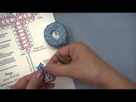 gina's Ring Chain Beginner Tatted Cross - part 2