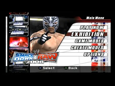 WWE SmackDown Vs. Raw 2008 -- Gameplay (PS2)