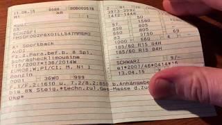 Zulassungsbescheinigung Teil 1 (Fahrzeugschein) Inhalt erklärt was verbirgt sich hinter den Kürzeln?