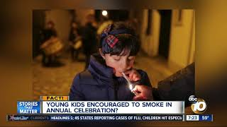 Parents encourage kids to smoke?