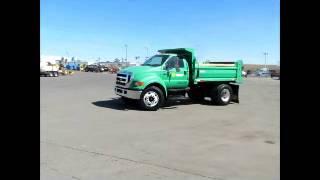 Sold! 2007 Ford F750 S/A 5-Yard Dump Truck 215HP Cummins ISB 5.9L bidadoo.com