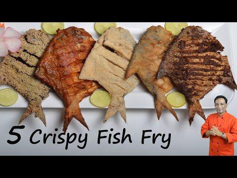 Fish Fry - 5 Crispy Pomfret Fish Fry's - Rava Fish Fry, Street Recipe Fish Fry, Chettinad Fish Fry