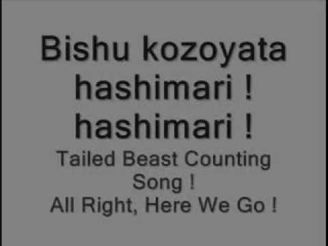 Naruto Bijuu Counting Song Lyrics - English And Japanese -