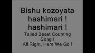 Repeat youtube video Naruto Bijuu Counting Song Lyrics - English And Japanese -