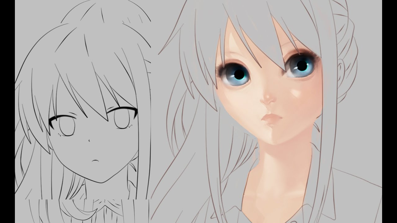 Part 1 How to Paint a Realistic Anime Face YouTube