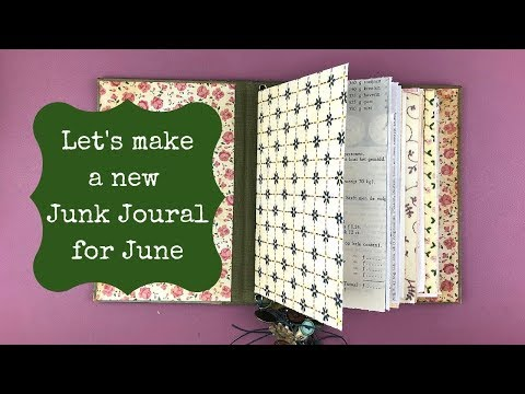 DIY No Sew Junk Journal for Beginners using Johanna Clough's Binding Method