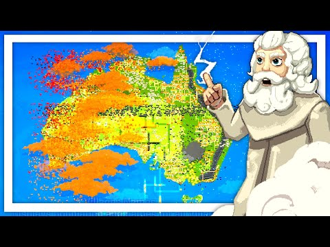 I Used My God Powers To Save Australia From Wild Fires in World Box