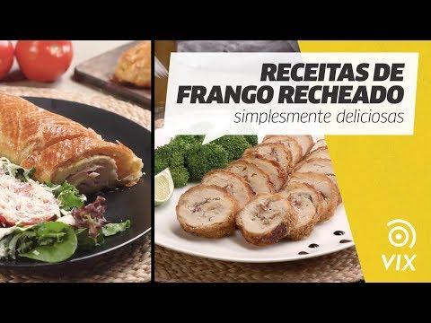 RECEITAS DE FRANGO RECHEADO: simplesmente deliciosas   receitas salgadas   VIX