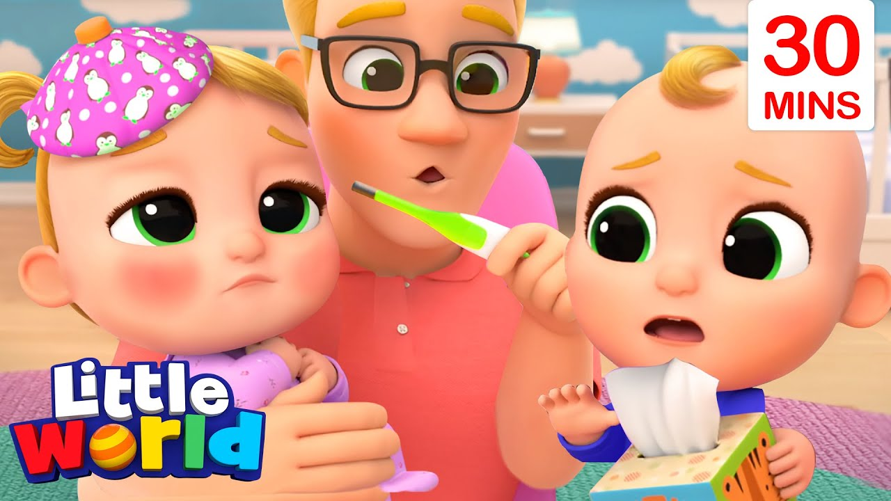 Sick Song | Nina And Nico + More Kids Songs & Nursery Rhymes by Little World
