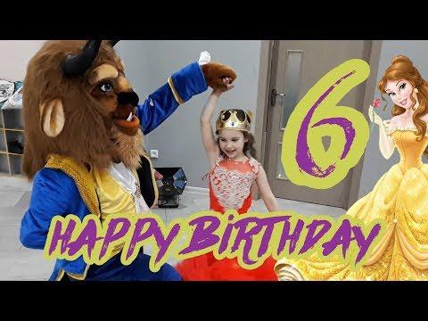 День Рождения Каринки 6 лет Красавица и Чудовище Принцесса Бель Belle Распаковка подарков