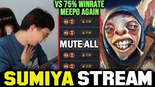 SUMIYA Invoker vs 75% Winrate Meepo Spammer AGAIN | Sumiya Invoker stream Moment #1246