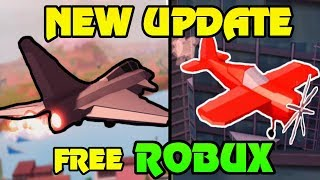 🔴 ROBUX GIVEAWAY!! | Jailbreak NEW UPDATE JUST RELEASED!! | NEW FIGHTER JET + STUNT PLANE! | Roblox