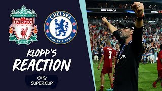 Liverpool vs Chelsea: Klopp's UEFA Super Cup reaction | Adrian, Firmino and 'Thank You' to Istanbul