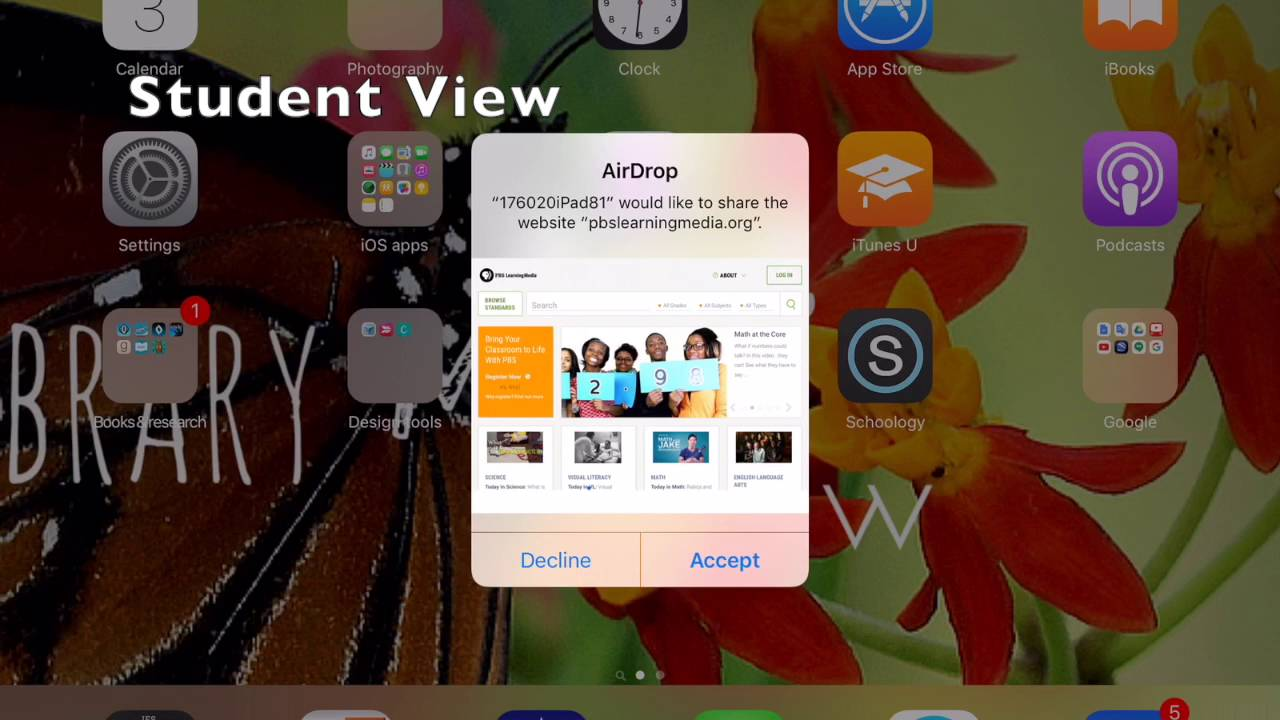 How To Airdrop A Website To Students