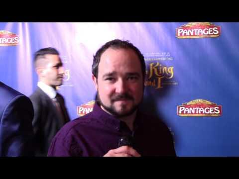 Bradley Pierce talks Jumanji on the King & I Pantages Red Carpet