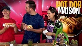 Michou et Valouzz se régalent avec mes Hot-dogs maison, c'est validé ! 🌭