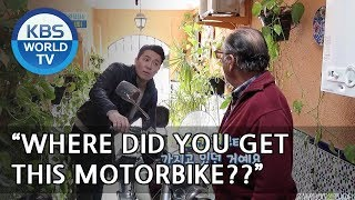 Papa has a motorbike? Let's check out his scret garage! [One Night Sleepover Trip/ 2018.05.22]