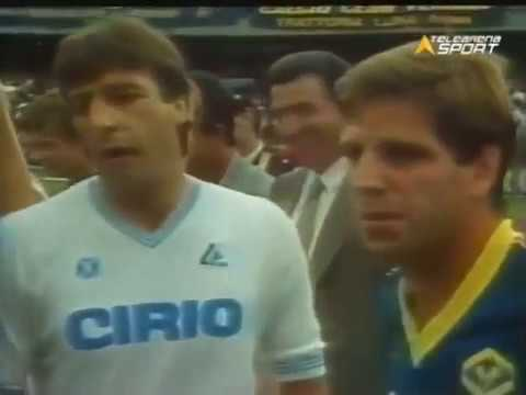 1984 85 verona napoli 3 1 full match maradona esordio for Serie a table 1984 85