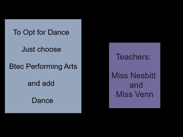 BTEC Dance - CAHS Year 9 Options 2021