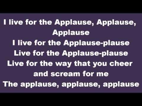 **LYRICS** Lady Gaga - Applause