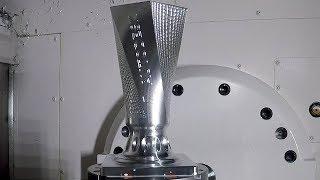 PowerMill 5-Axis Vase Machining on Okuma MU4000V