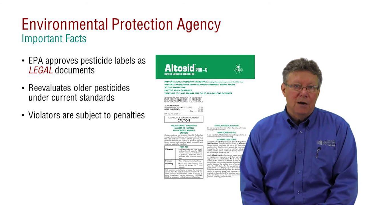 Pesticide Applicator Core Exam Prep Fifra And The Epa Youtube