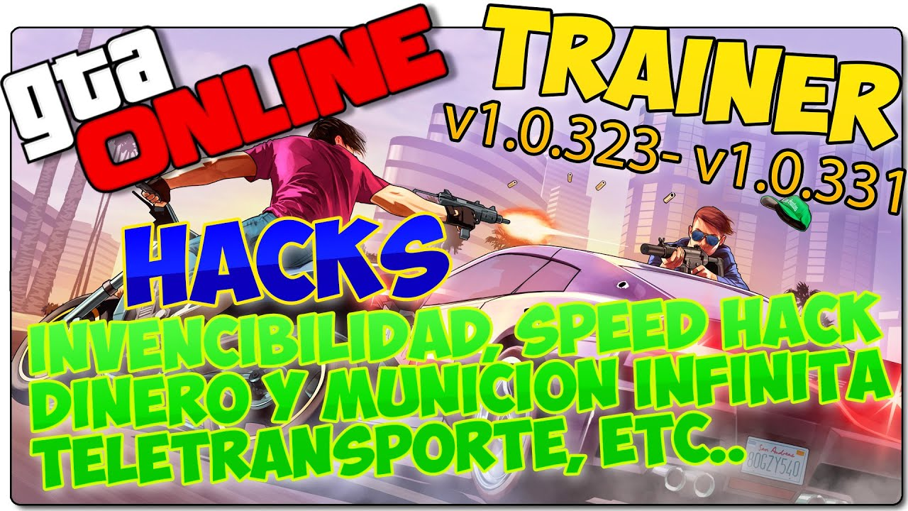 GTA 5 PC ONLINE HACKS - TRAINER - MODS - ¡INVENCIBILIDAD, DINERO INFINITO, SPEED HACK!
