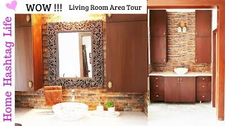 Living Room ( Wash Basin Area ) Tour ! House To Home Series Ep. 5