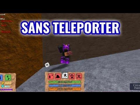 New Location Sans Map Teleporter Minilovania Roblox