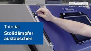 Stoßdämpfer austauschen bei Handstrahlkabinen von SIGG Strahltechnik
