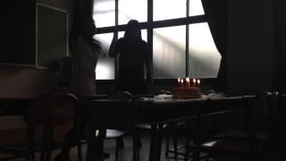 金爆大好きアホ3人が学校で けんじっちの誕生日をお祝いしたよ(*゚ー゚*)