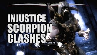 Injustice Gods Among Us: All Scorpion Clash Battle Dialogues